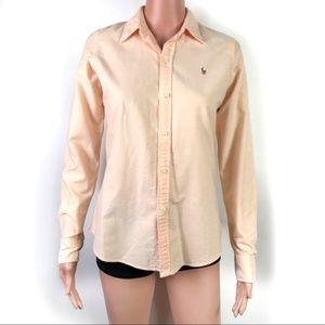 Ralph Lauren Light Orange Button Down Shirt Size 6